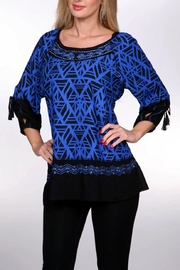Krista Lee Blue Emb. Shirt - Product Mini Image