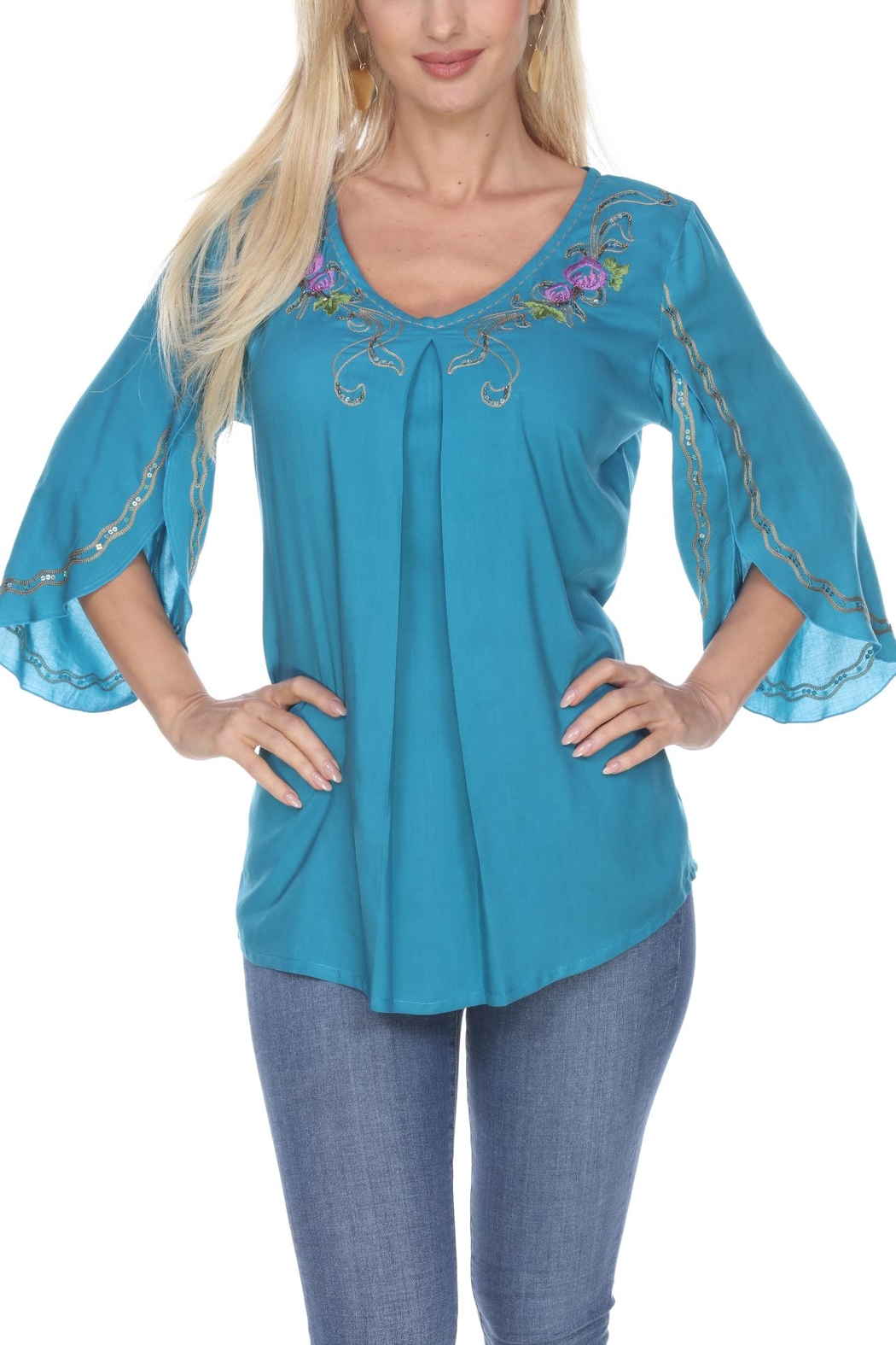 Krista Lee Butterfly Sleeve Top - Main Image