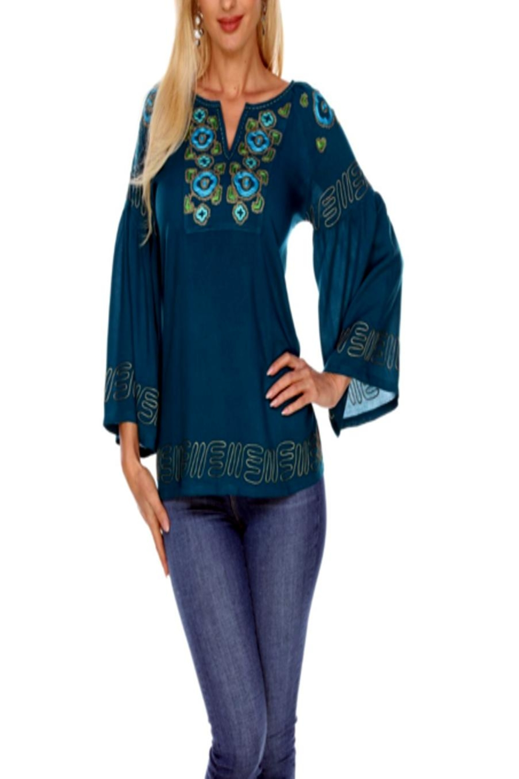 Krista Lee Notched Embr. Tunic - Main Image