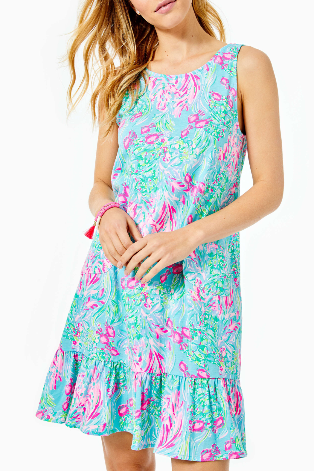 Lilly Pulitzer  Kristen Flounce Dress - Front Cropped Image
