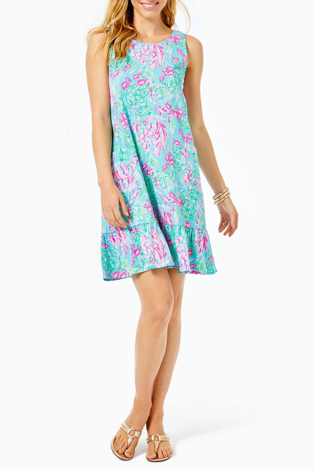 Lilly Pulitzer  Kristen Flounce Dress - Back Cropped Image