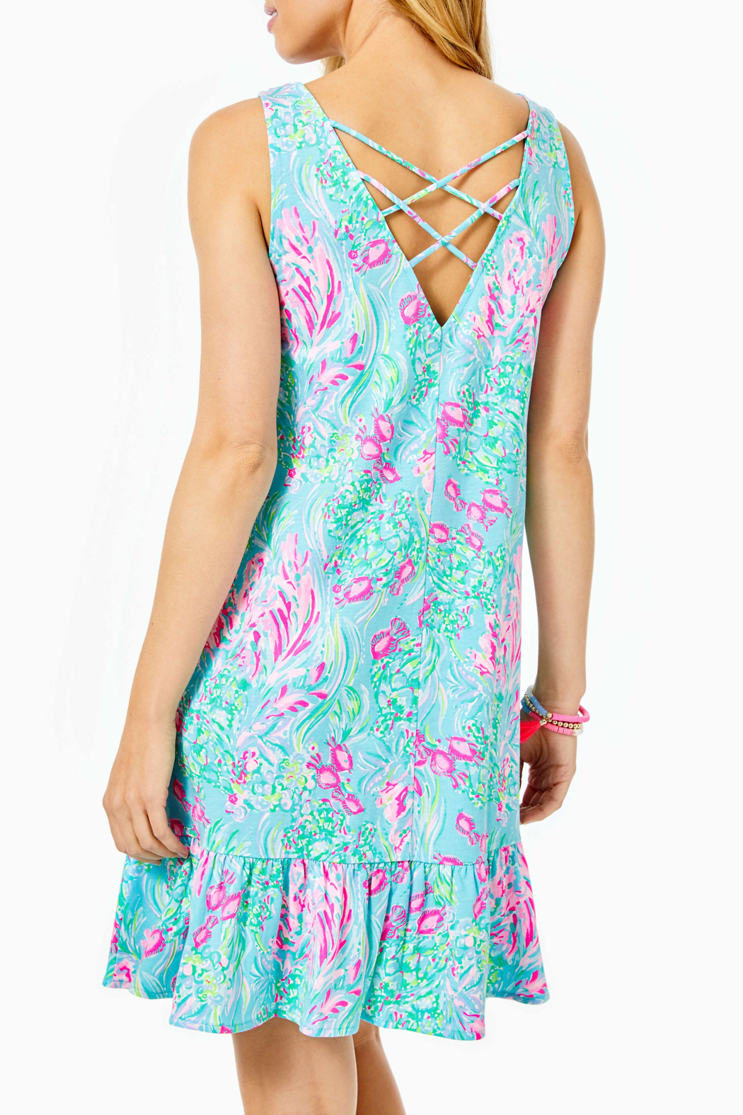 Lilly Pulitzer  Kristen Flounce Dress - Side Cropped Image