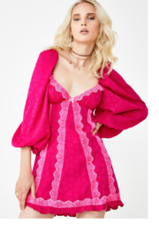 FOR LOVE & LEMONS Kristie Lace Babydoll Dress - Front cropped