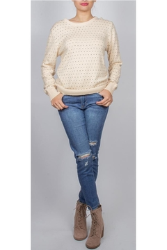 Shoptiques Product: Kristin Heart-Print Sweater