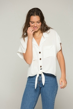 Band Of Gypsies Kristin Tie Top - Product List Image