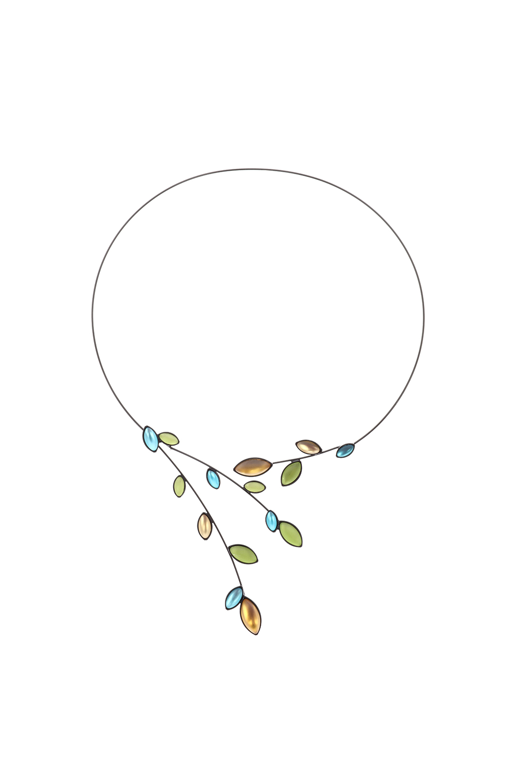 Kristina Collection Blue Wire Necklace from Utah by The Raven Image ...