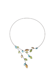 Kristina Collection Blue Wire Necklace - Product Mini Image