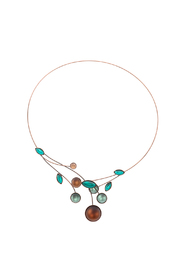 Kristina Collection Bronze Wire Necklace - Product Mini Image