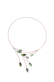 Kristina Collection Green Wire Necklace - Product Mini Image