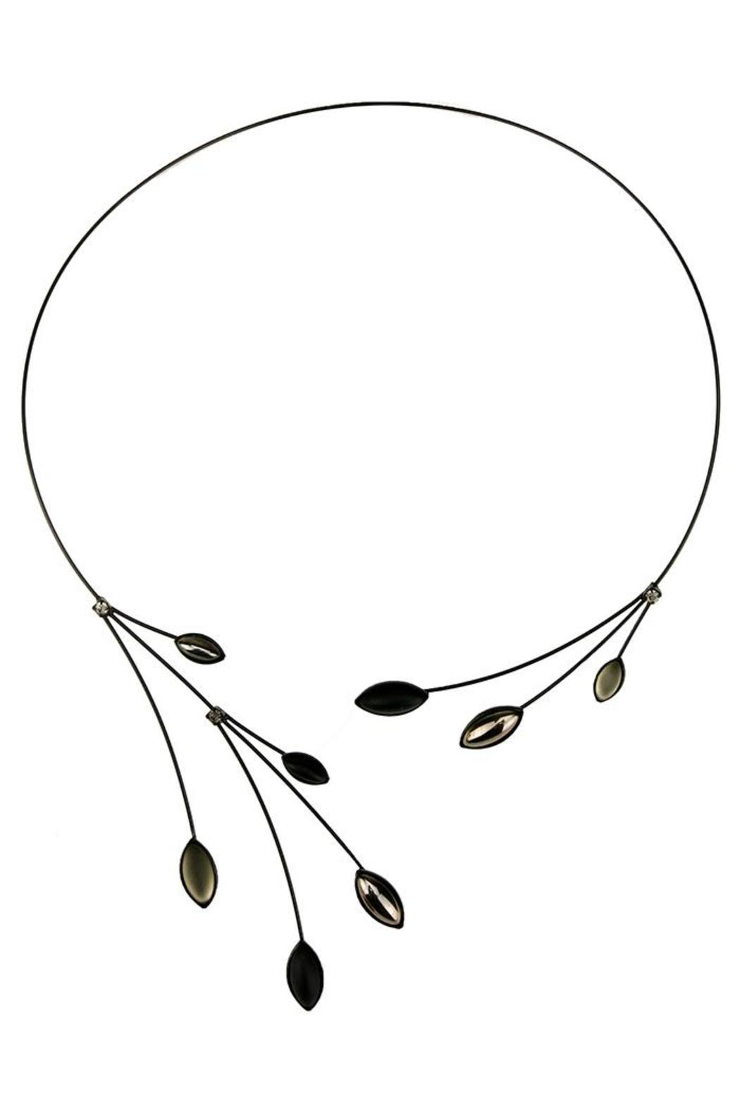 Kristina Collection Memory Wire Necklace - Front Cropped Image