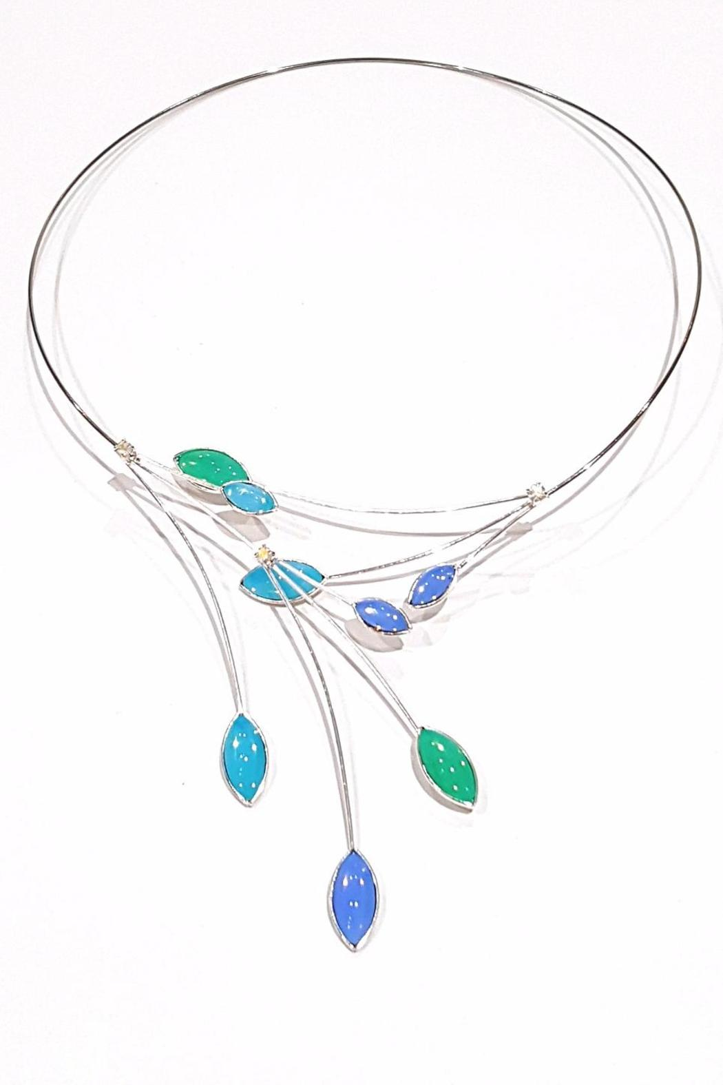 4fd0e04fd16780 Kristina Collection Opalescent Glass Choker from Maryland by Leila ...