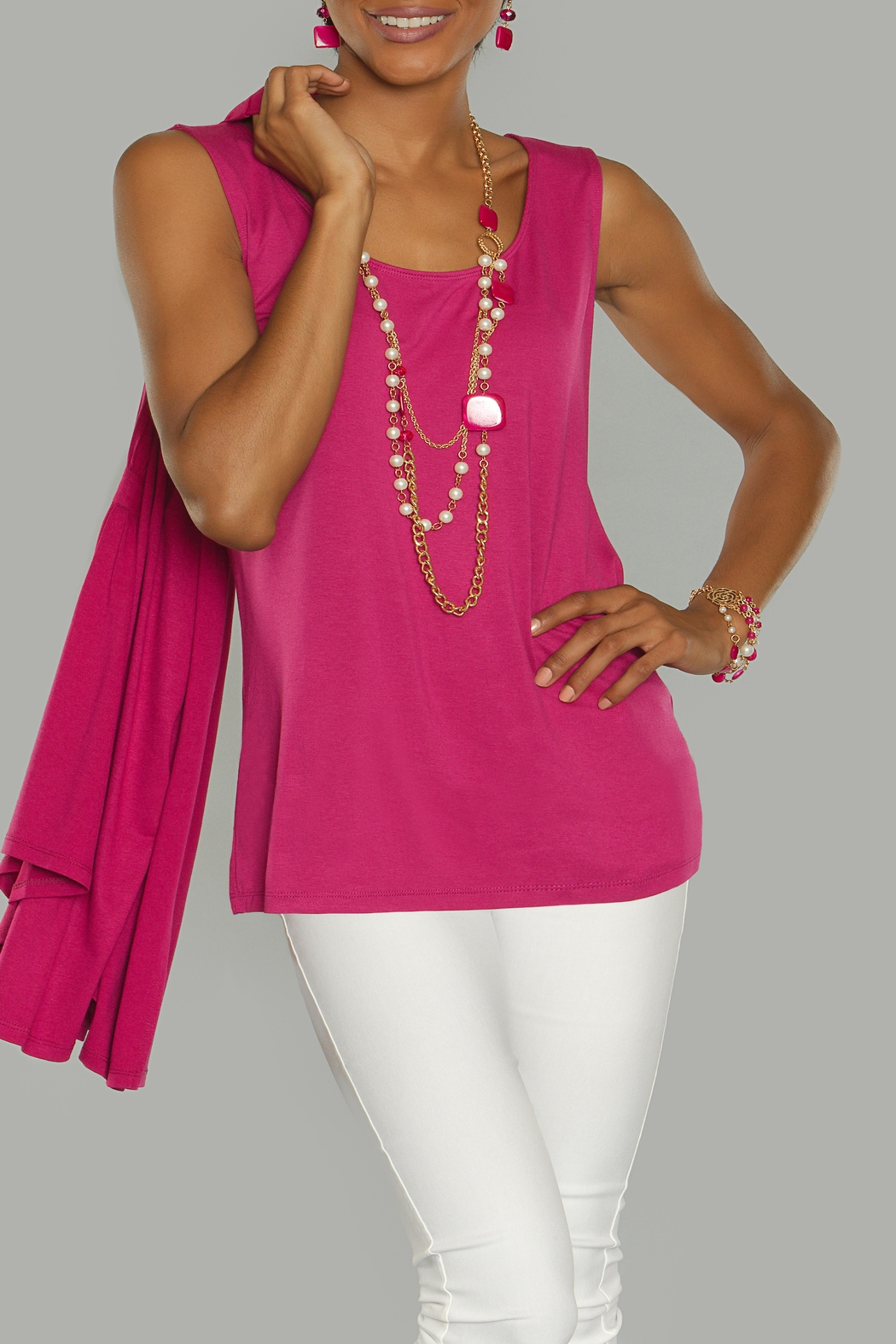 Kristine Berry Tank Top - Main Image