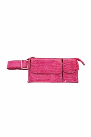 Kristine Pink Crocodile Waist Bag - Product Mini Image