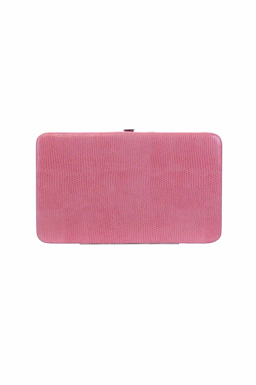 Kristine Pink Flat Wallet - Front Cropped Image