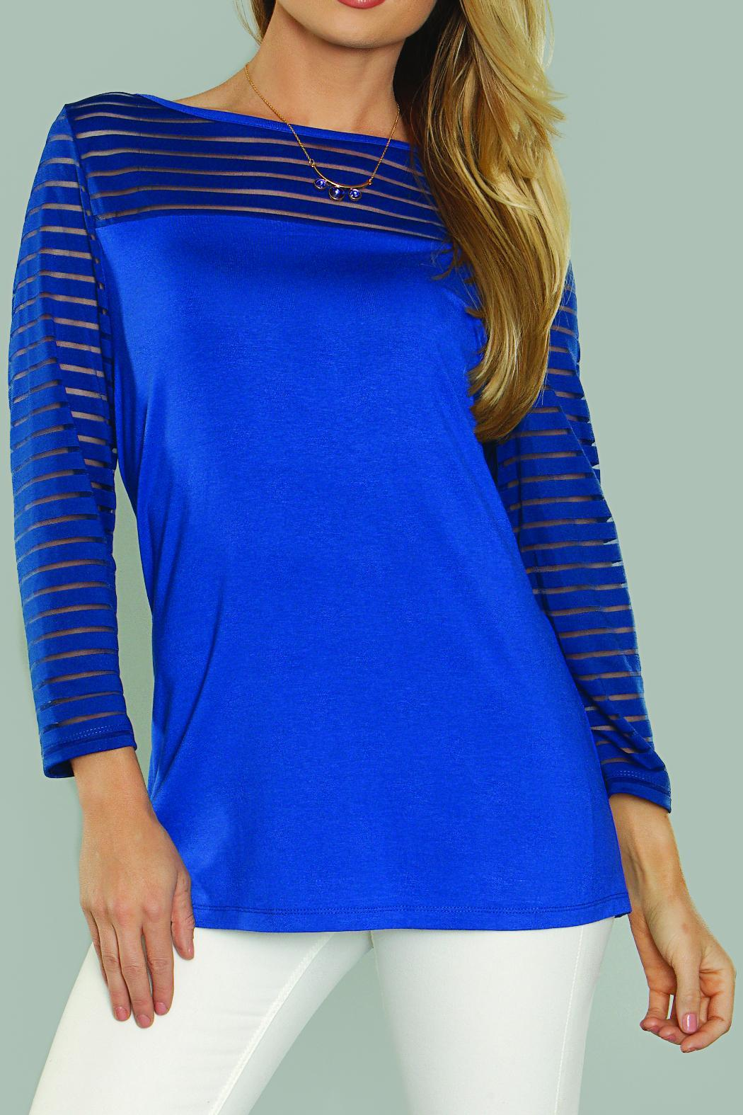 Kristine Knit Pullover Blouse - Front Full Image