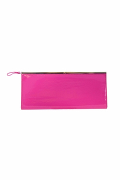 Kristine Patent Clutch Hot Pink - Product List Image