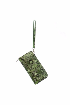 Kristine Green Snake Print Wallet - Product List Image