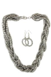 Kristine Accessories Multi-Strand Silver Necklace Set - Product Mini Image