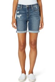 Liverpool  KRISTY HI-RISE DOUBLE ROLLED SHORT - Front cropped