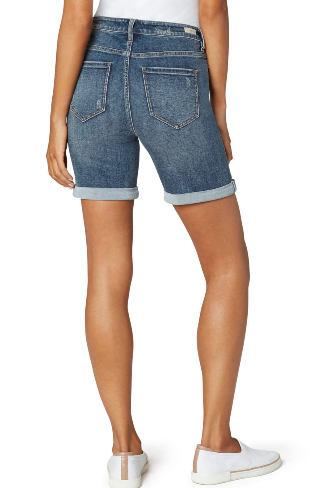 Liverpool  KRISTY HI-RISE DOUBLE ROLLED SHORT - Front Full Image