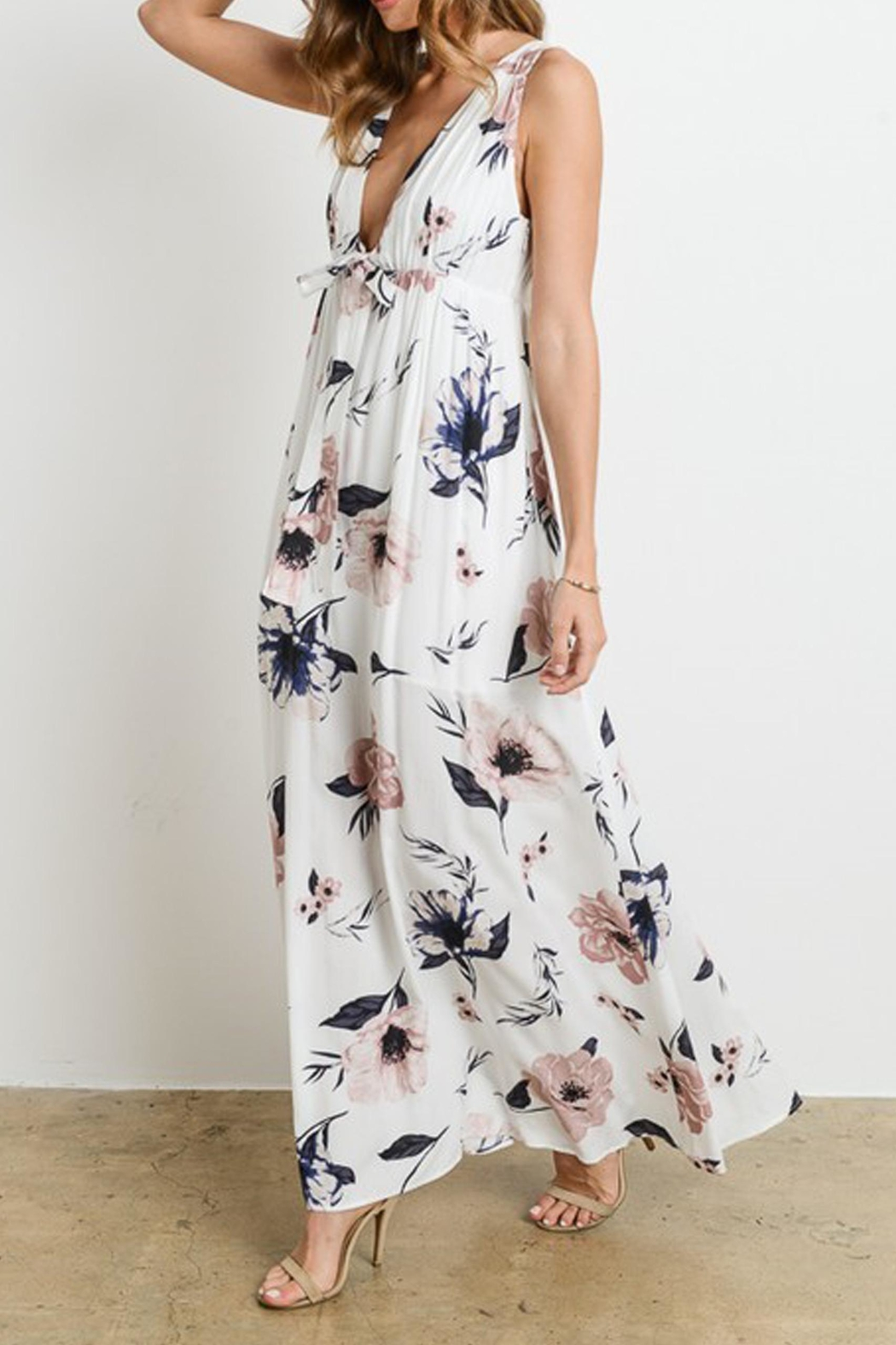 Charme U Kristy Tie-Front Maxi - Front Full Image