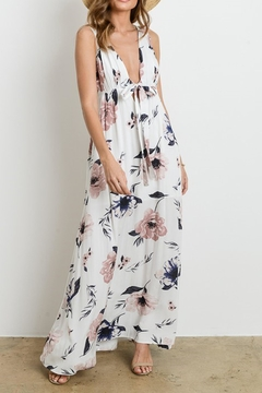Charme U Kristy Tie-Front Maxi - Product List Image