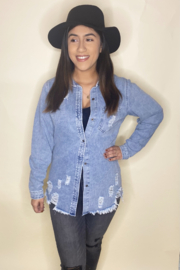 Trend Shop  Krysta Denim Shirt - Product Mini Image