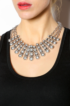 KTCollection Chunky Silver Necklace - Alternate List Image