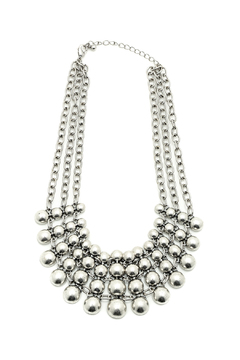 KTCollection Chunky Silver Necklace - Product List Image