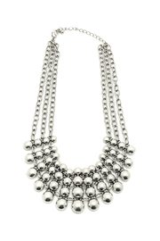 KTCollection Chunky Silver Necklace - Product Mini Image