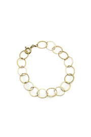 KTCollection Circles Gold Bracelet - Product Mini Image