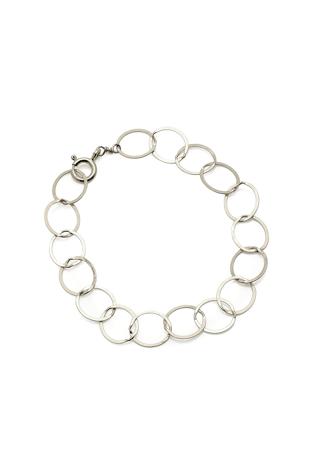 KTCollection Circles Silver Bracelet - Front Cropped Image