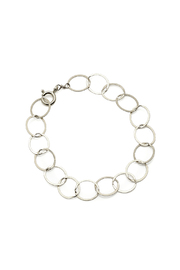 KTCollection Circles Silver Bracelet - Front cropped