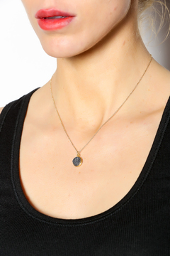 KTCollection Druzy Gold Necklace - Alternate List Image