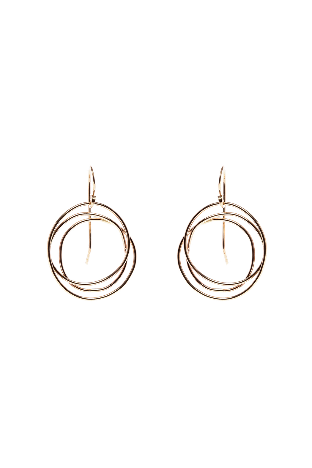 KTCollection Gold Web Circle Earrings - Main Image
