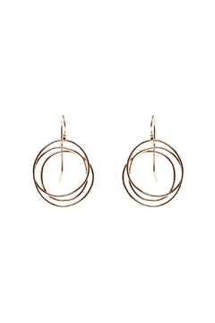 KTCollection Gold Web Circle Earrings - Alternate List Image