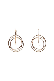 KTCollection Gold Web Circle Earrings - Product Mini Image