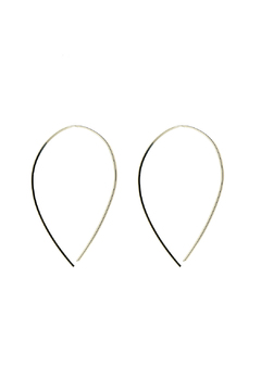 KTCollection Loop Silver Earrings - Alternate List Image