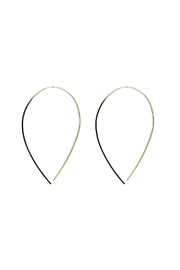 KTCollection Loop Silver Earrings - Product Mini Image