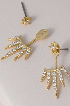 KTCollection Sparkly Spike Earjackets - Product List Image