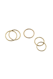KTCollection Stacking Gold Rings - Product Mini Image