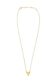 KTCollection Triangle Gold Necklace - Product Mini Image