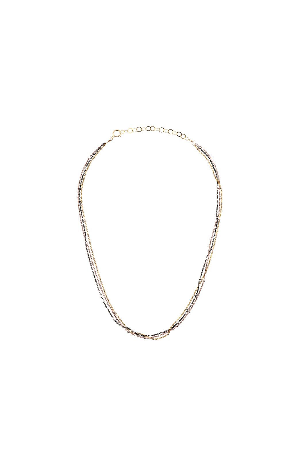 KTCollection Triple Metal Choker - Main Image