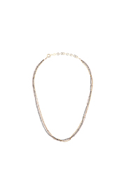 KTCollection Triple Metal Choker - Front cropped