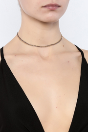 KTCollection Triple Metal Choker - Back cropped