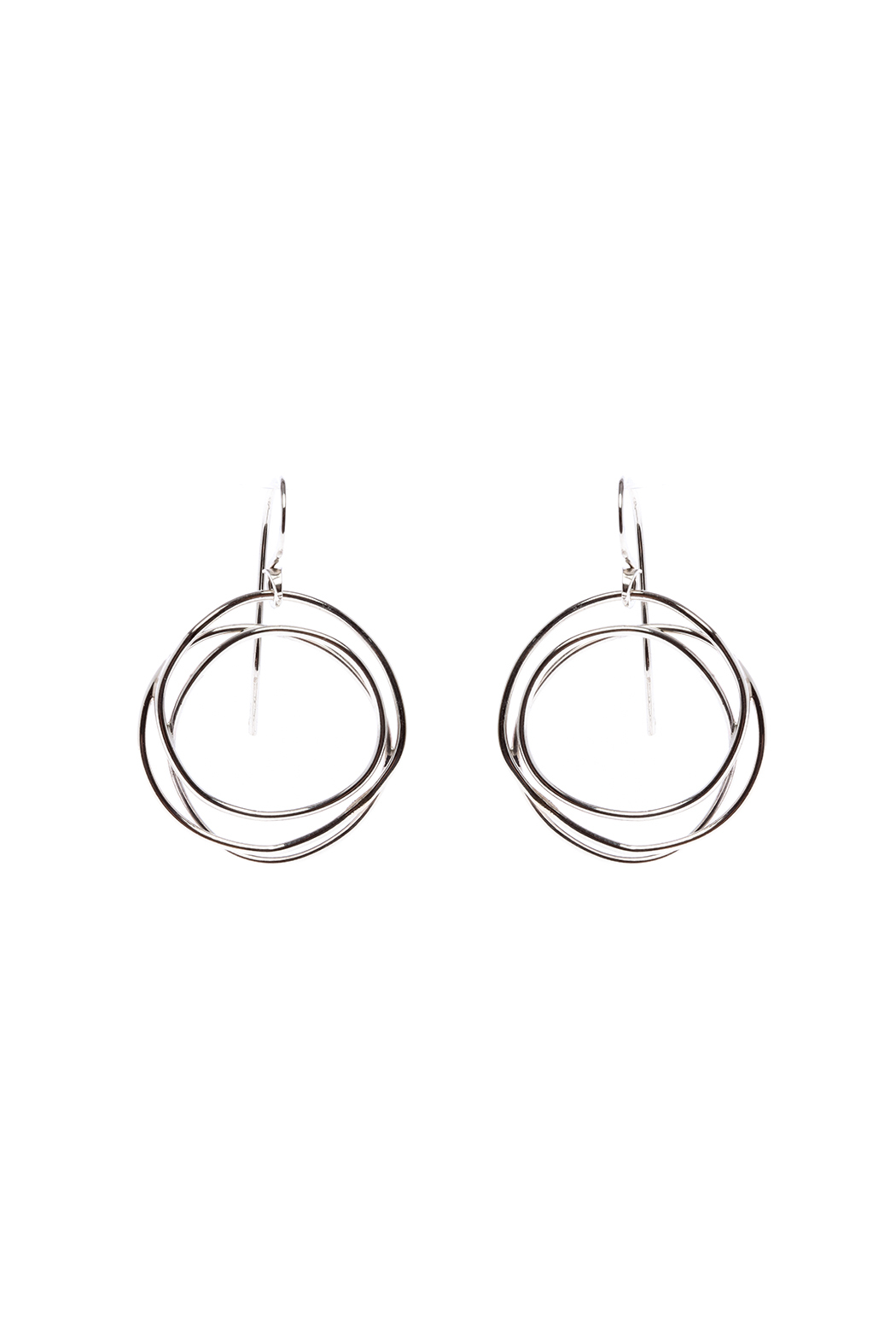 KTCollection Web Circle Earrings - Main Image