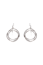 KTCollection Web Circle Earrings - Front cropped