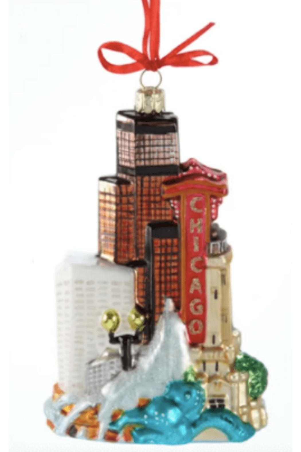 Kurt Adler Chicago Downtown Ornament - Main Image