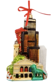 Kurt Adler Chicago Downtown Ornament - Front full body