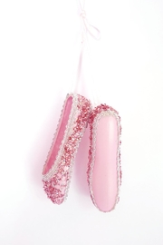 Kurt Adler Glitter Ballet Shoes Ornament - Front cropped